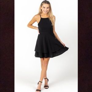 Francesca's Black Mini Dress